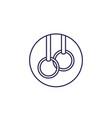 gymnastics rings line icon vector image vector image