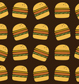 hamburger art pattern