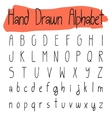 Handwritten simple alphabet set vector image