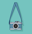 hanging retro camera flat style design vector image vector image
