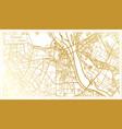 hanoi vietnam city map in retro style in golden vector image vector image