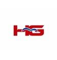 HG Logo Graphic Branding Letter Element vector image vector image