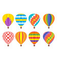 hot air colorful balloon vector image vector image