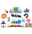 icon design for science on white background vector image