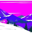 image of colorful stylized mountains with trees vector image vector image