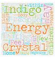 Indigo Crystal Phenomena ADD ADHD Children text vector image vector image