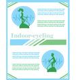 Indoor Cycling flyer vector image vector image