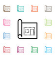isolated page icon architectural element vector image vector image