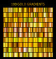 mega collection of golden gradients vector image vector image