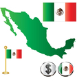 Mexico map small vector image vector image