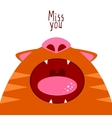 Miss you Open cat mouth vector image vector image