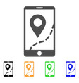 mobile map navigation icon vector image vector image