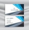 modern blue and black geometric business card vector image vector image