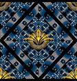 modern floral greek key meander seamless vector image vector image