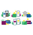 money transactions cash transfers mobile vector image