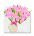 mothers day retro postcard vector image vector image