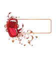 mouth with floral frame vector image vector image
