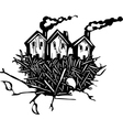 Nesting Houses vector image vector image