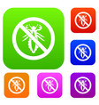 no louse sign set collection vector image vector image