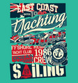 ocean offshore sailing yacht regatta vector image