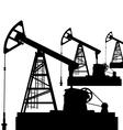 Oil pump jack Oil industry equipment vector image