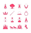 Princess fairytale icon set vector image vector image