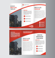 Red trifold Leaflet Brochure flyer templates set vector image vector image
