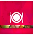 restaurant menu design with plate fork and knife vector image vector image