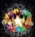 retro party stars vector image