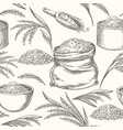 rice doodle pattern vector image vector image