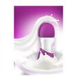 roll on antiperspirant deodorant banner vector image vector image