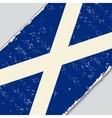 Scottish grunge flag vector image vector image