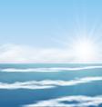 Sea Landscape Sunrise surf Ocean vector image vector image