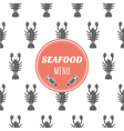 Seafood menu with lobster vector image vector image