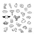set 25 hand drawing sketch icon doodle objects vector image vector image