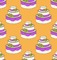Sketch wedding cake vector image vector image