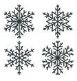 snowflakes black winter design elements vector image