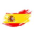 spanish flag grunge brush background vector image vector image