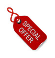 special offer tag icon vector image vector image