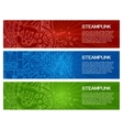 Steampunk Doodle Banner Headers vector image