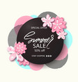 summer sale background banner with beautiful pink vector image vector image