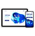 template website business design vector image