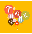 Thank You Retro Design Bubbles vector image vector image