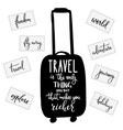 Travel inspiration quotes lettering vector image vector image