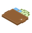 wallet icon isometric style vector image