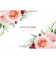 wedding invite save date greeting card floral art vector image