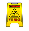 wet floor sign pop art vector image
