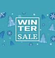 winter sale concept banner cartoon style vector image vector image