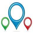 Navigation pin resize vector image