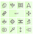 14 next icons vector image vector image